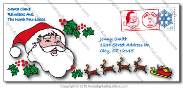 All letters are mailed in Santa Claus North